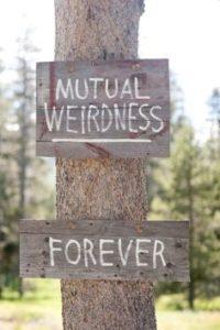 nerdy wedding signs