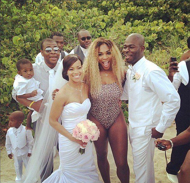 serena williams crashes wedding
