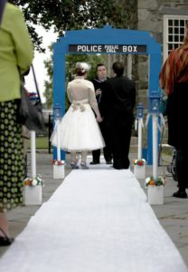 doctor who wedding arch
