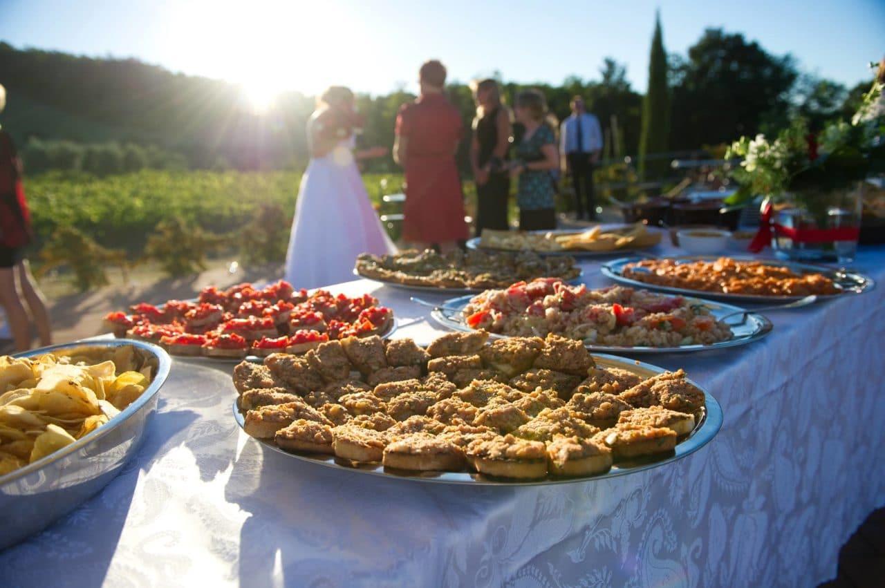 wedding food cost