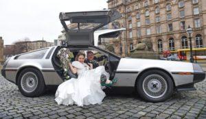 DeLorean wedding getaway car