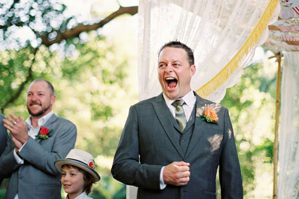 groom reaction at ceremony