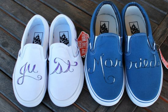 just married vans