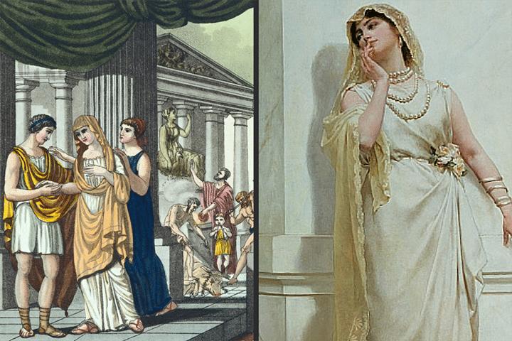 roman empire wedding dress