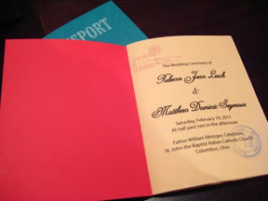 diy wedding passport program