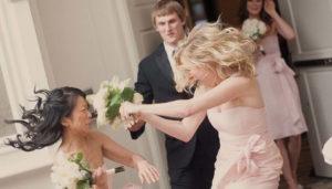 unruly wedding guests