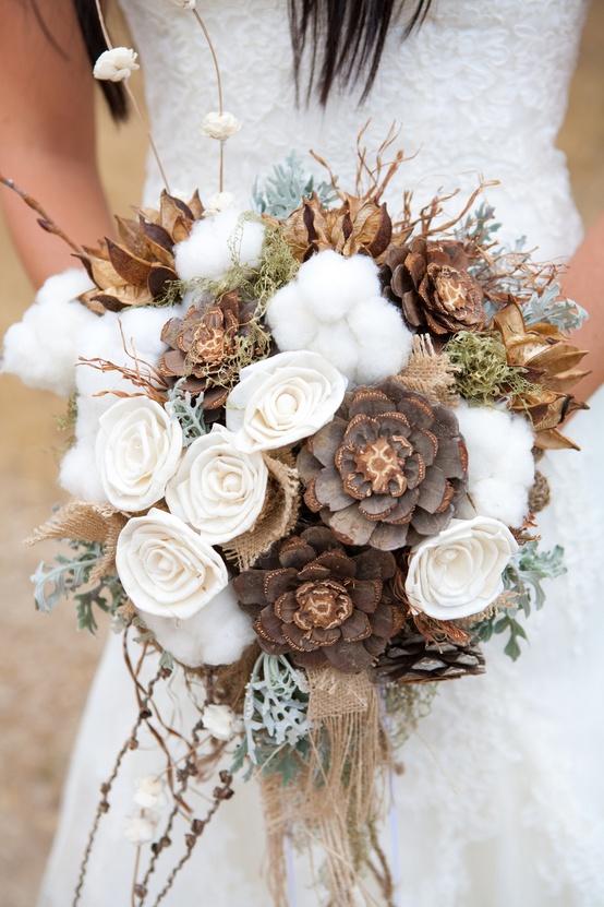 neutral wedding flowers