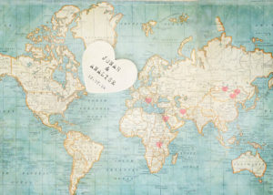 wedding guest book map