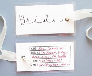 travel themed wedding escort cards