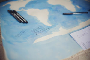 diy wedding guest book map