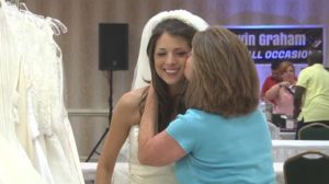bride finding dress
