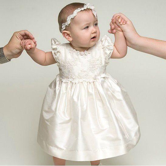 wedding dress into baby dress