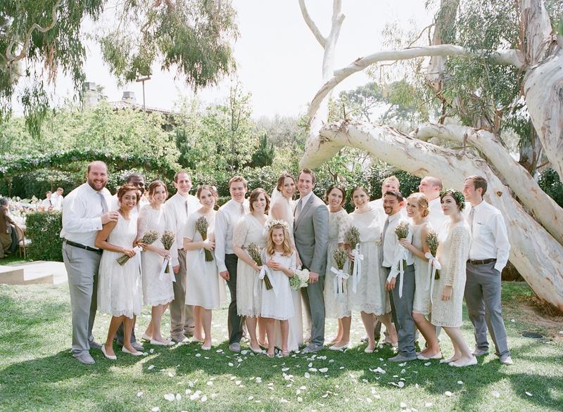 neutral bridal party