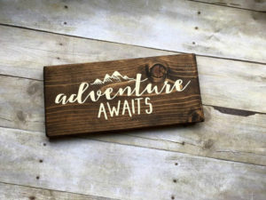 travel themed wedding sign