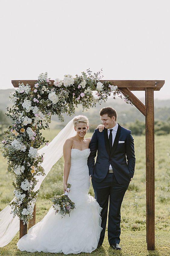 neutral wedding arch
