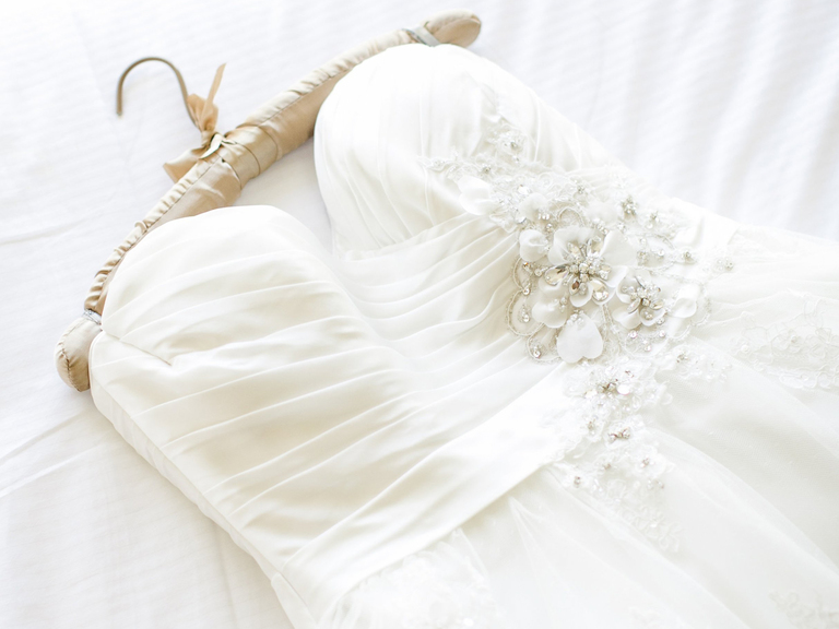cleaning wedding gown