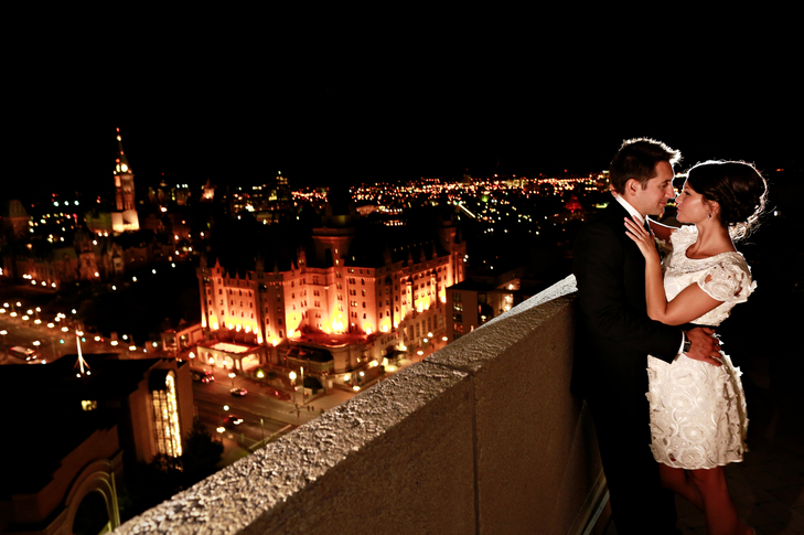 rooftop elopement
