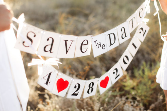 save the date signs