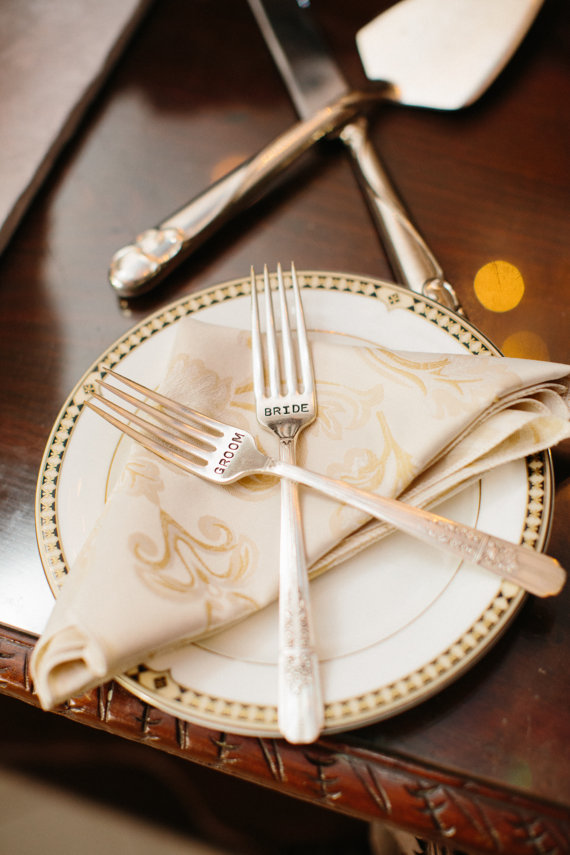 personalized sweetheart table silverware