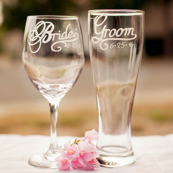 personalized sweetheart table glasses