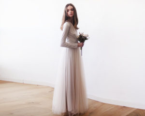maid of honor long sleeve dress