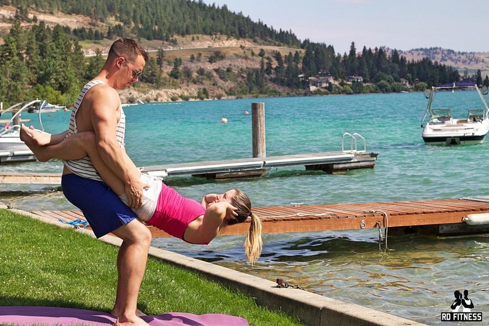 standing crunch workout