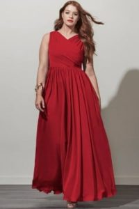 red plus size bridesmaid dresses