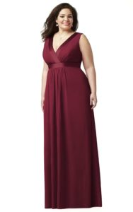 v-neck plus size bridesmaid dresses