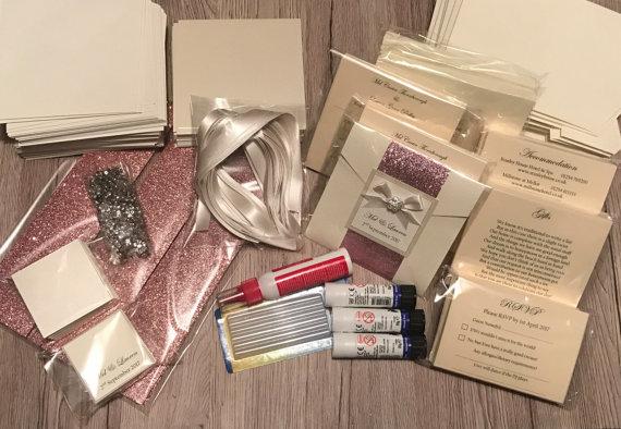 diy wedding invitation kit