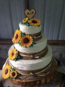 summer wedding cake dieas
