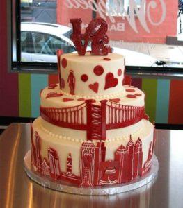 red wedding cake ideas