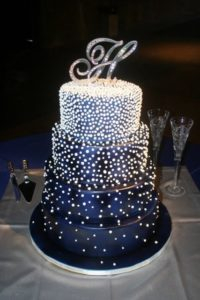 royal blue wedding cake ideas