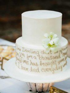 small wedding cake ideas