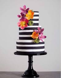striped wedding cake ideas
