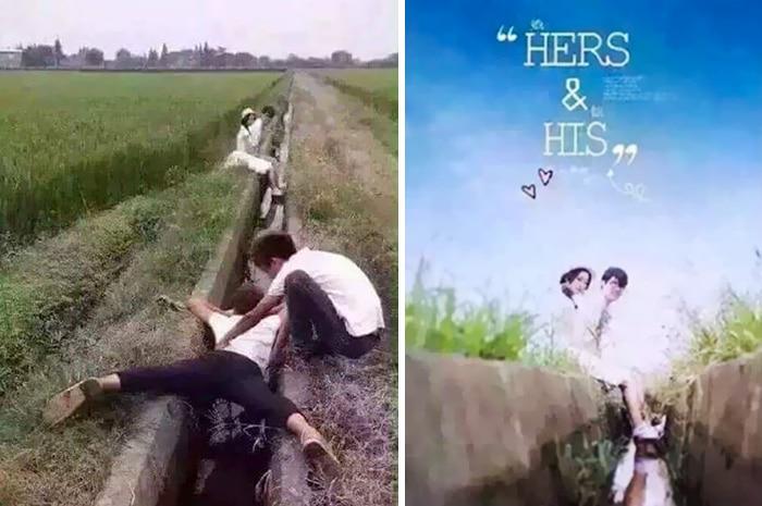 Wedding Photographers doing split
