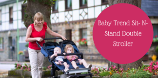 sit and stand, double stroller, sit and stand stroller, baby trend double stroller, baby trend sit and stand,