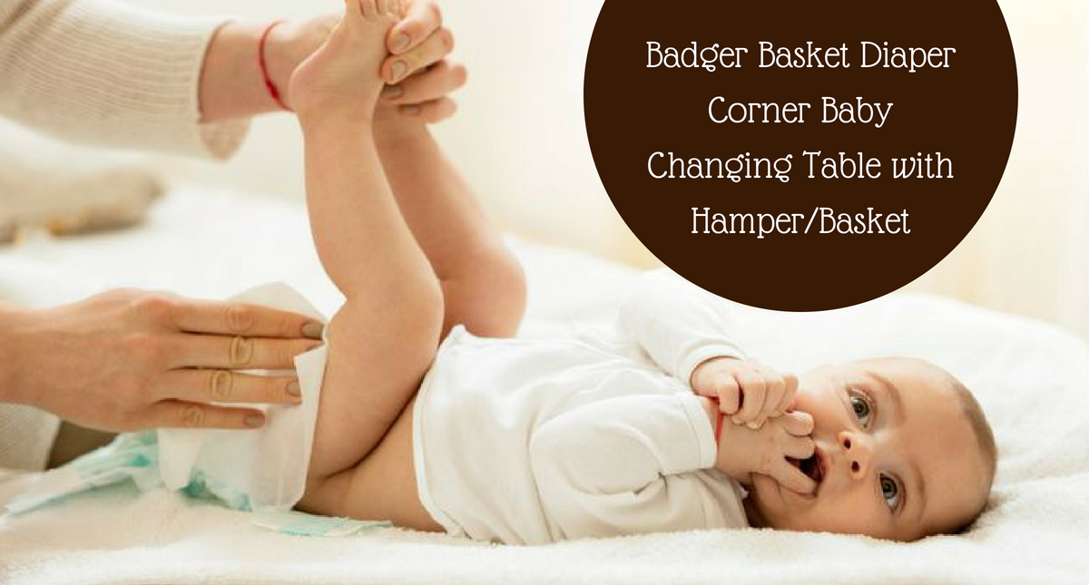 Badger Basket Diaper Corner Baby