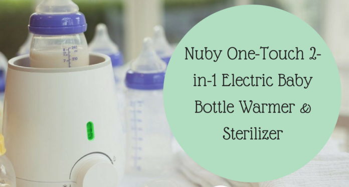 nuby one touch 3-in-1 electric bottle warmer and sterilizer
