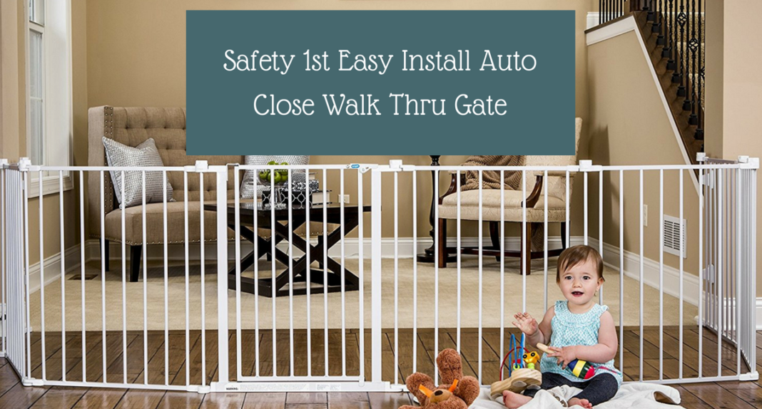Safety 1st Easy Install Auto Close Walk Thru Gate Product