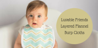 Luvable Friends Layered Flannel Burp Cloths