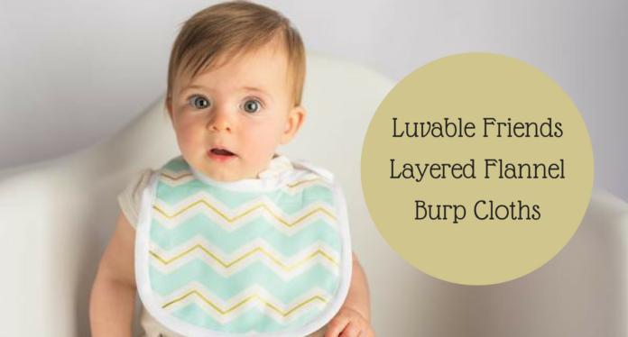 Luvable Friends Layered Flannel Burp Cloths