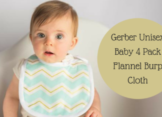 Gerber Unisex Baby 4 Pack Flannel Burp Cloth