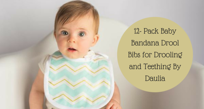 12- Pack Baby Bandana Drool Bibs for Drooling and Teething By Daulia