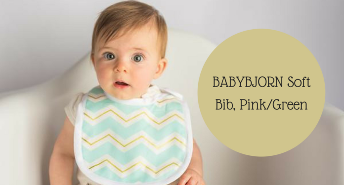 BABYBJORN Soft Bib, Pink/Green