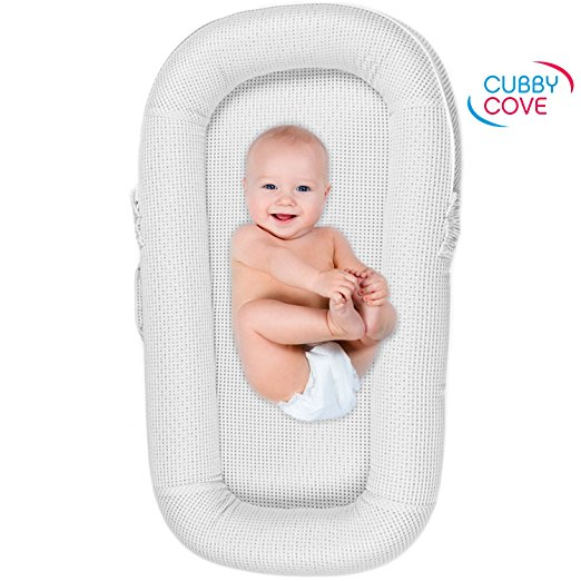 CubbyCove Baby Newborn and Infant Lounger with Canopy, best in bed co sleeper, cosleeper reviews, cosleeper bed, cosleeper review, infant co sleepers bed, baby sleepers in bed, best bedside sleeper