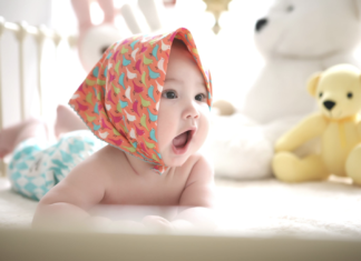 baby inside the crib